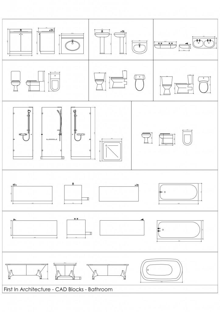 Free CAD Blocks – Bathroom