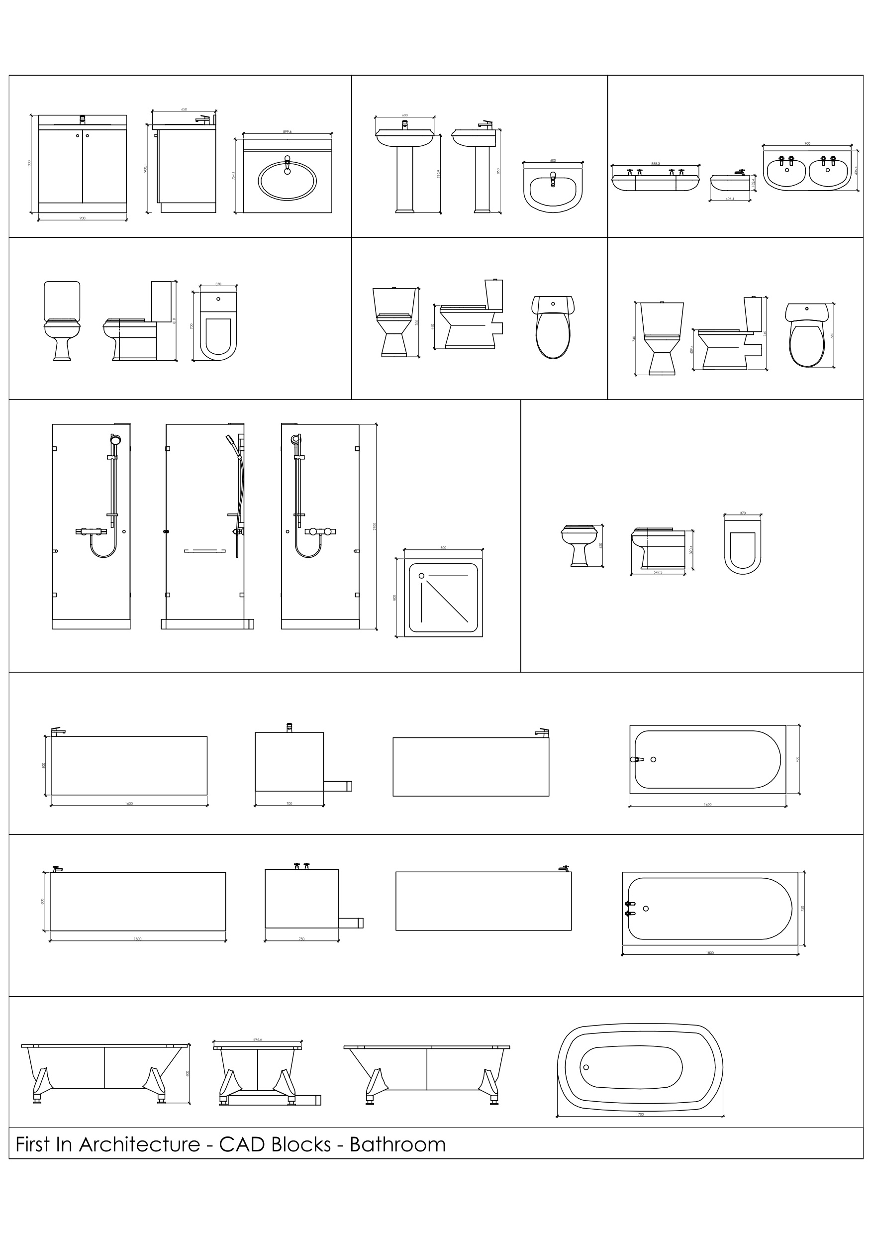 Bathroom section drawing - Bathroom Section Drawing 30