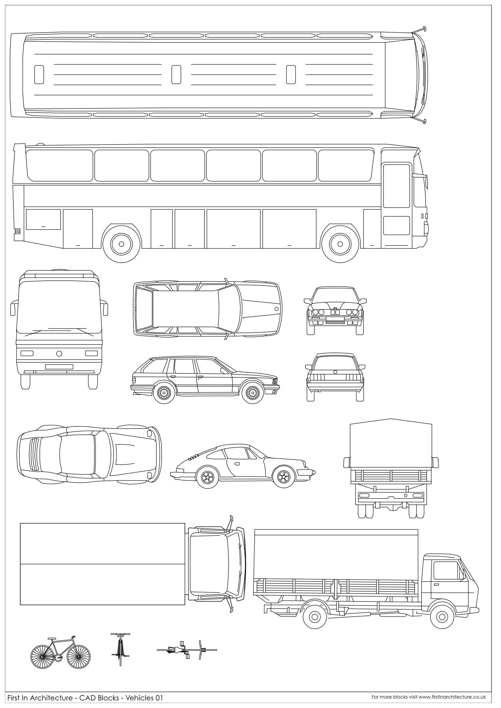 Good Cad Block Vehicles