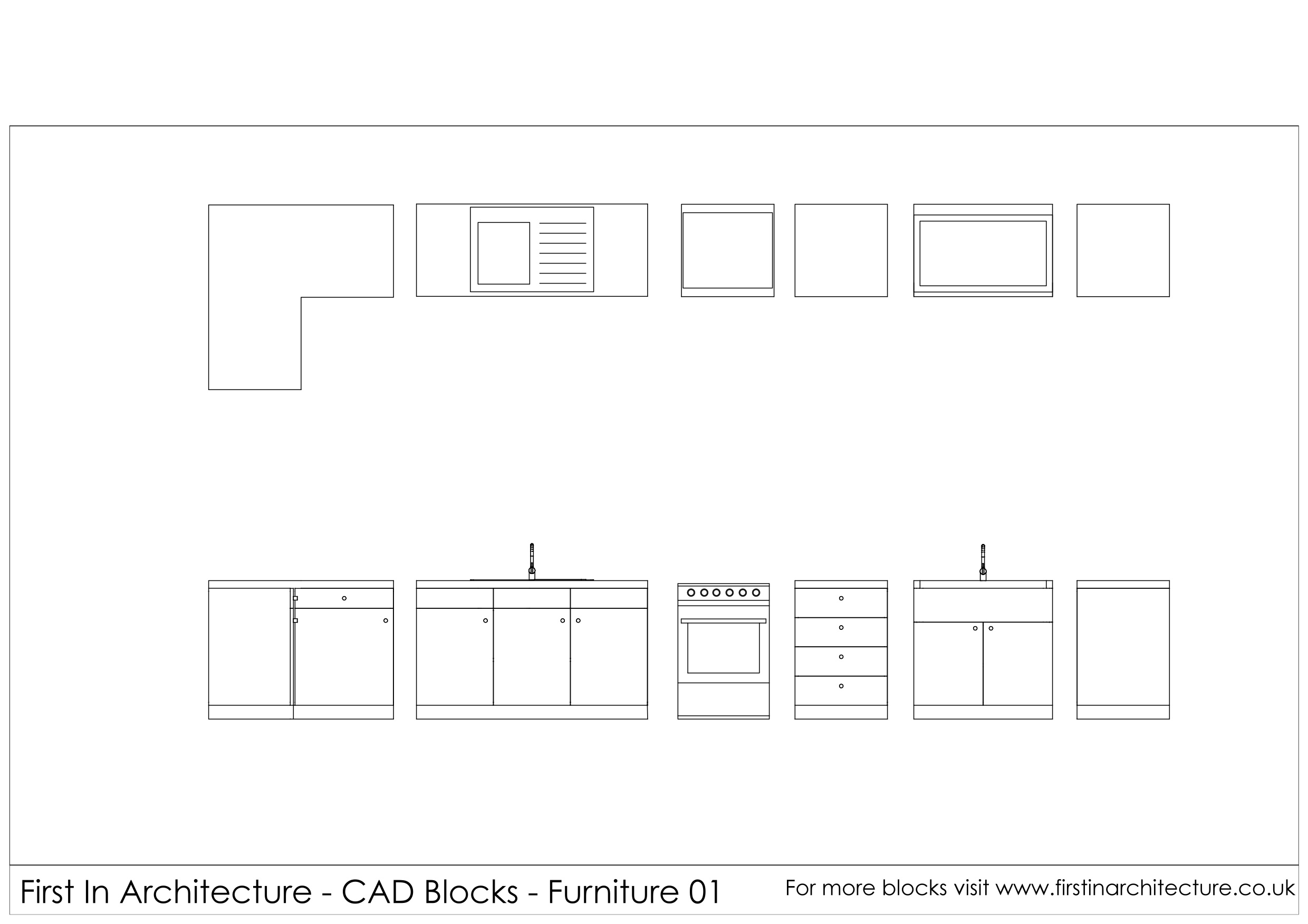 Free Kitchen Cad Blocks First In Architecture