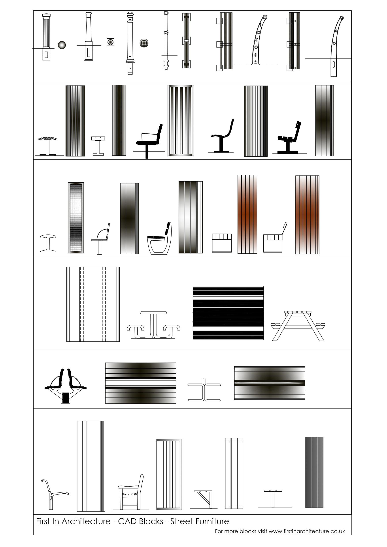 Unique Dining Room Table Elevation Cad Block Light of  : FIA CAD Blocks Street FurnitureHatch from lightofdiningroom.com size 1753 x 2480 jpeg 352kB