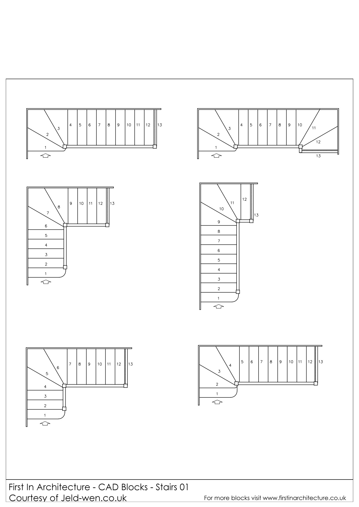 Free cad blocks stairs first in architecture for Online architecture drawing