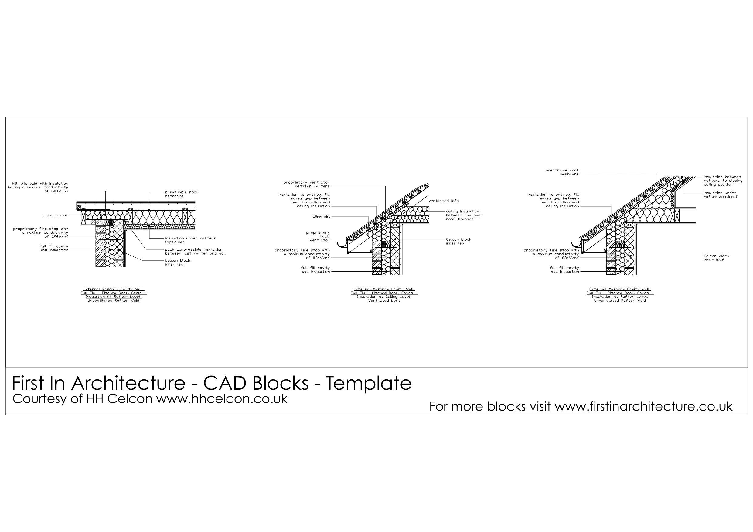 Free Cad Blocks Roof Details