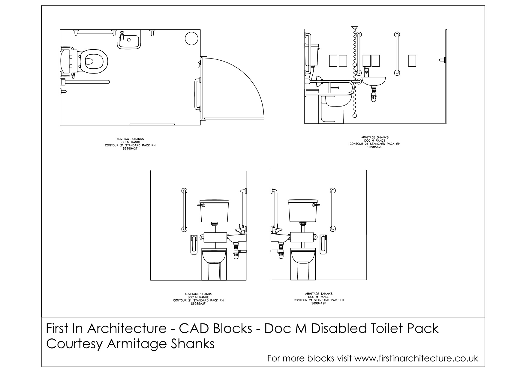 Standard Toilet Dimensions Imperial : Free CAD Blocks - Doc M Disabled Toilet  First In Architecture