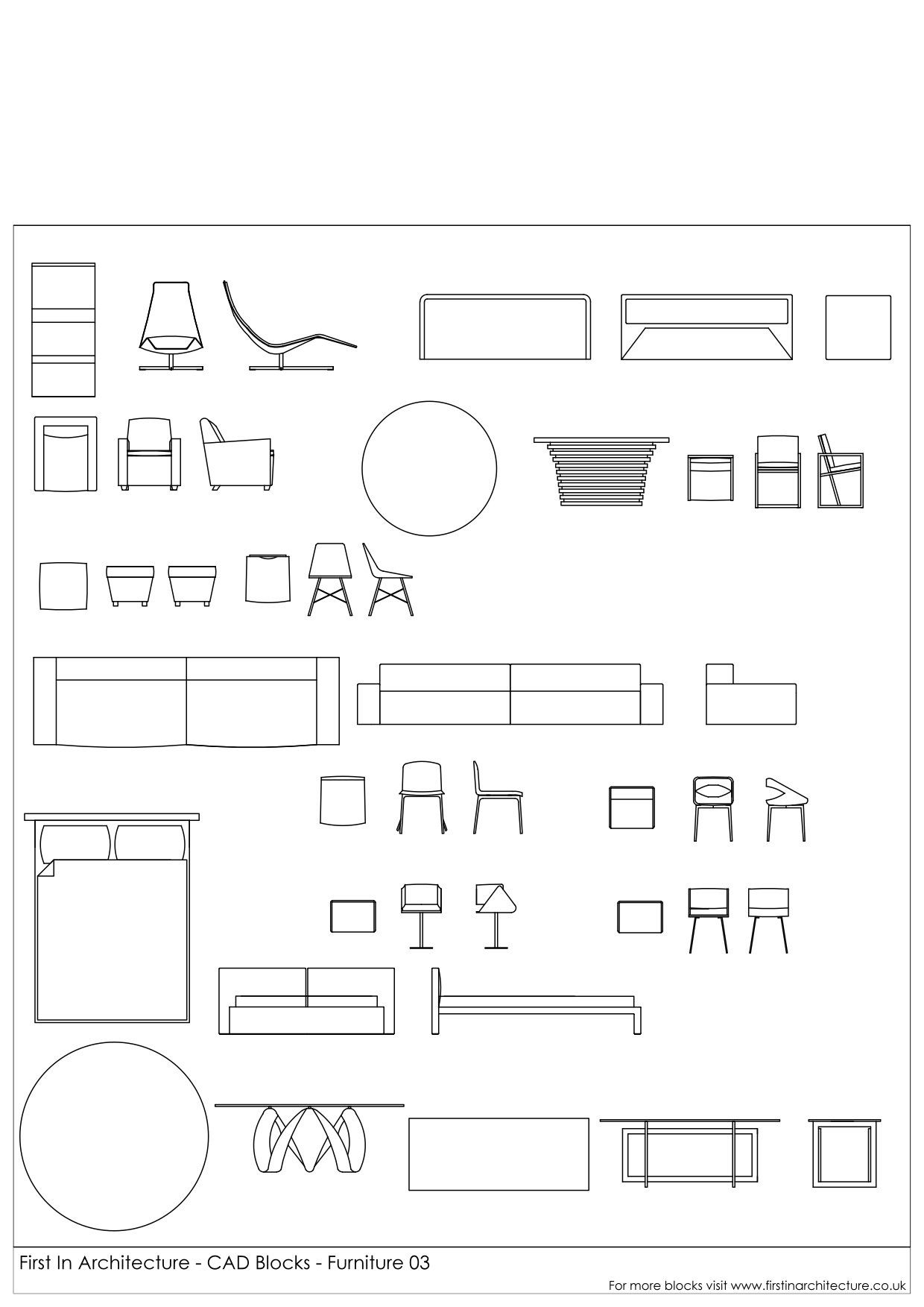 Cad Blocks Furniture Pack 03