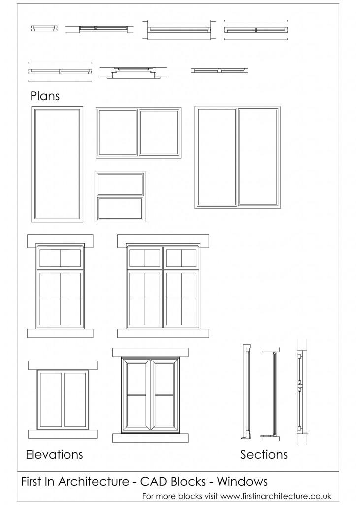Interior Design Symbols For Furniture ~ Cad blocks windows