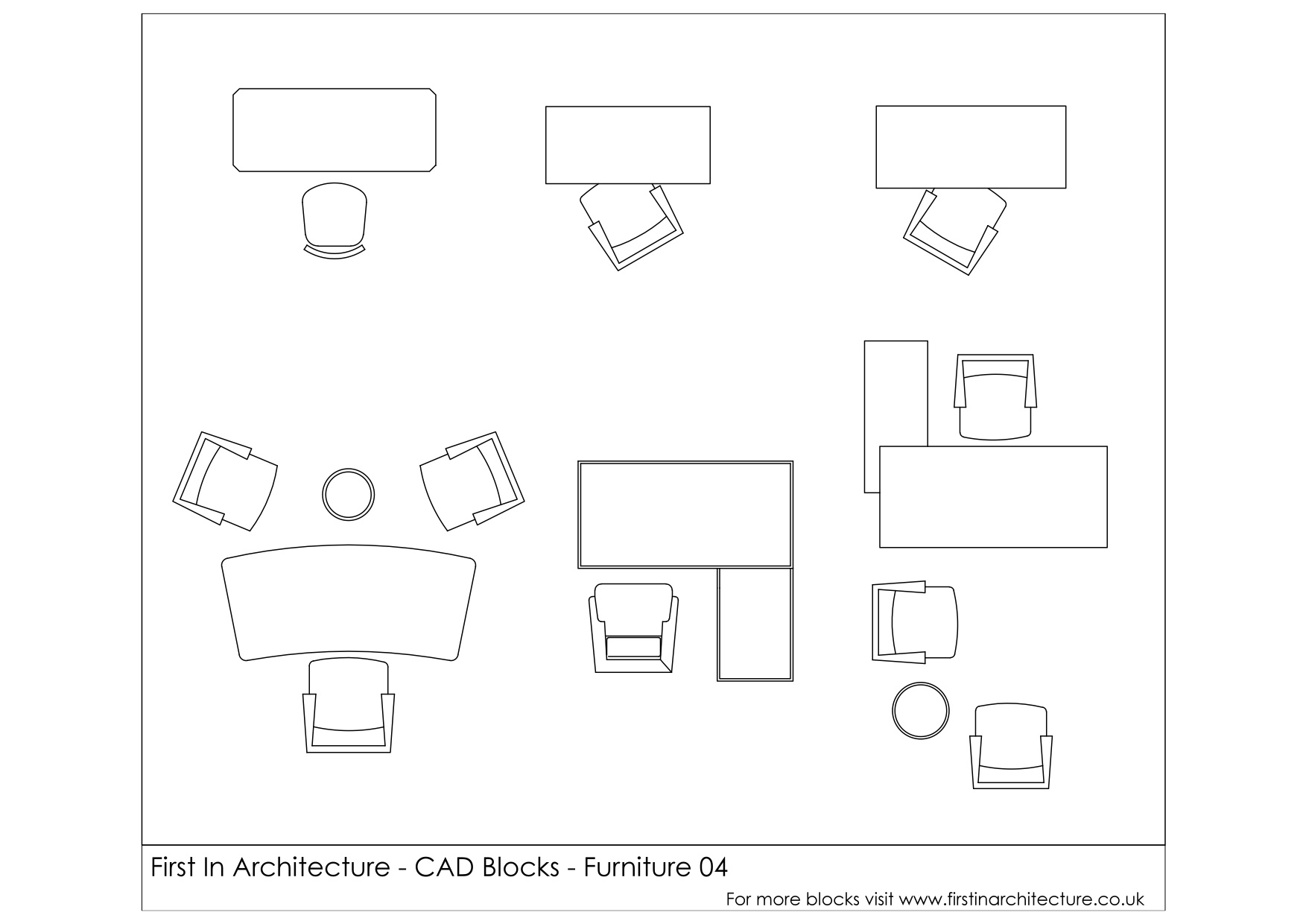 Free CAD Blocks - Furniture (Office Desks) | First In Architecture