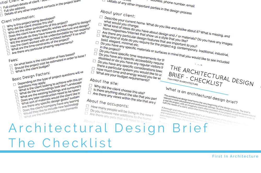 Architectural Design Brief