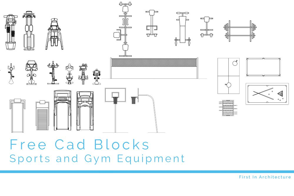 Free Cad Blocks Sport And Gym