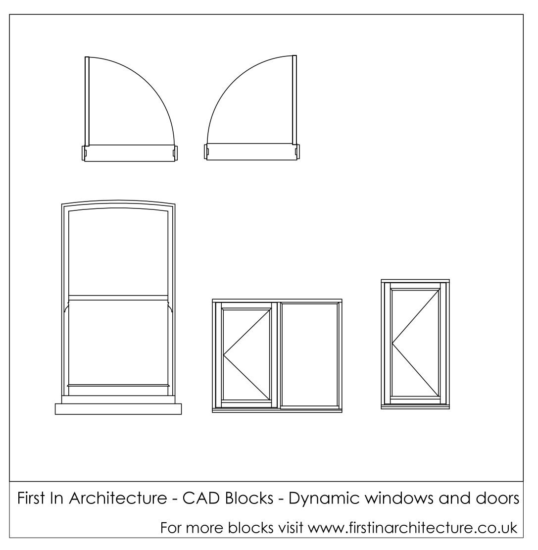 Free Cad Blocks Dynamic Window And Doors First In
