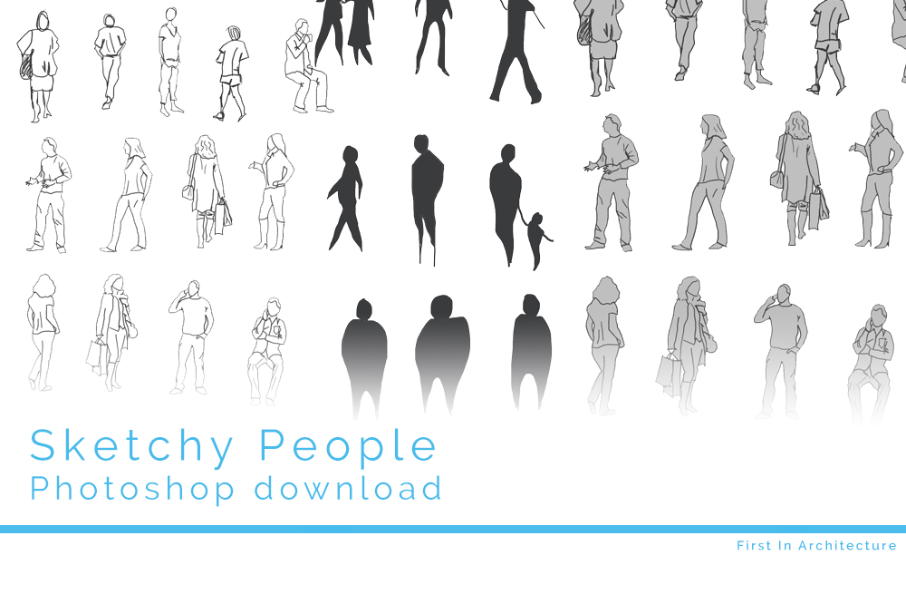 Architecture People sketchy people psd download | first in architecture