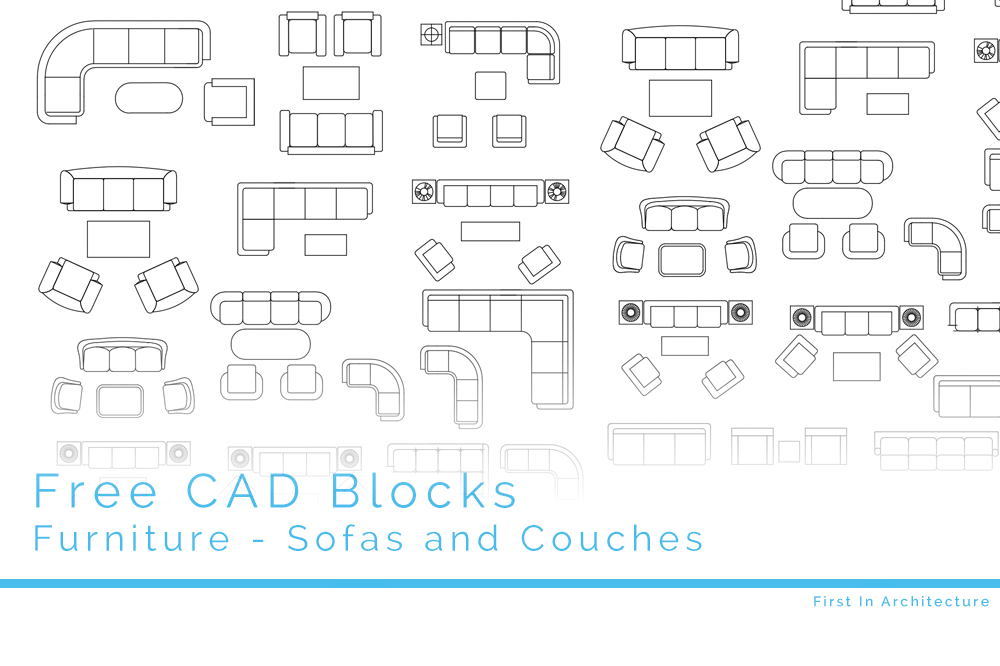 Free Cad Blocks Sofas And Couches First In Architecture