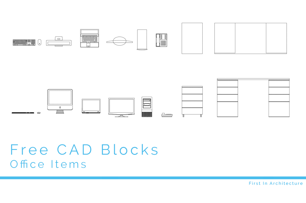 Free Cad Blocks Office Items First In Architecture