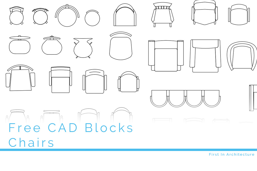 Free Cad Blocks Chairs In Plan For Free Download