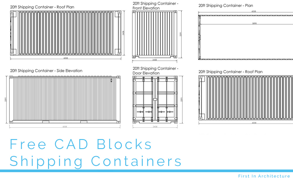 Free Cad Blocks Shipping Containers First In Architecture