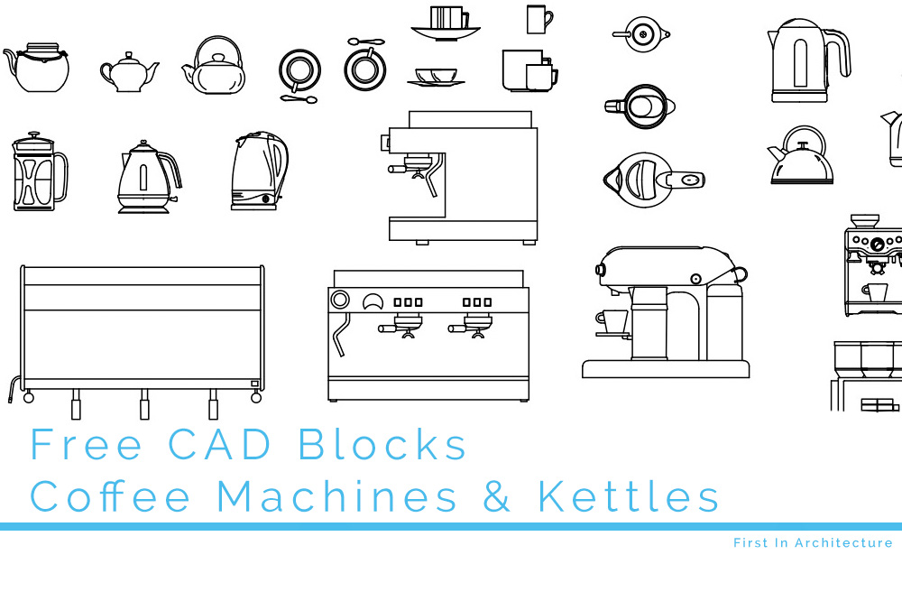 Free Cad Blocks Coffee Machine Cad Blocks Kettles And
